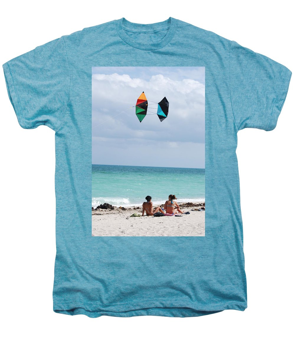 Sea Scape Men's Premium T-Shirt featuring the photograph Close Encounters by Rob Hans