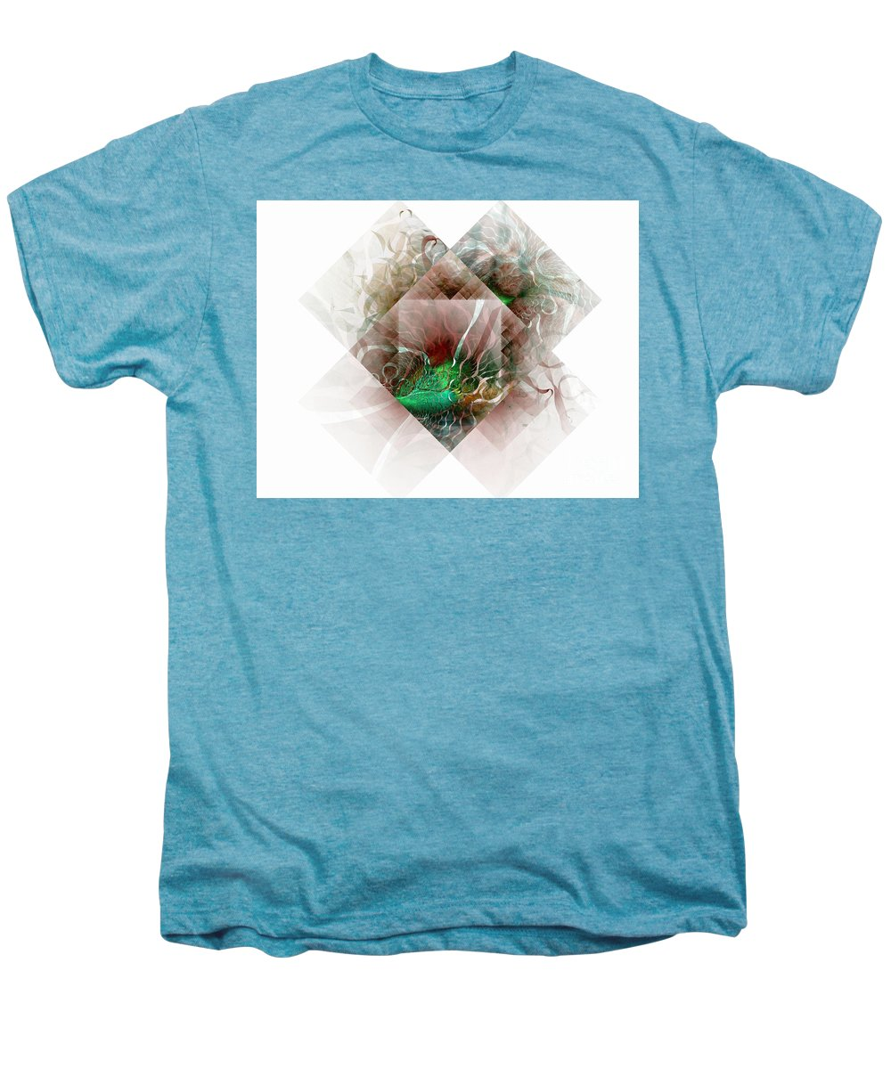 Digital Art Men's Premium T-Shirt featuring the digital art Coastal Memoirs by Amanda Moore