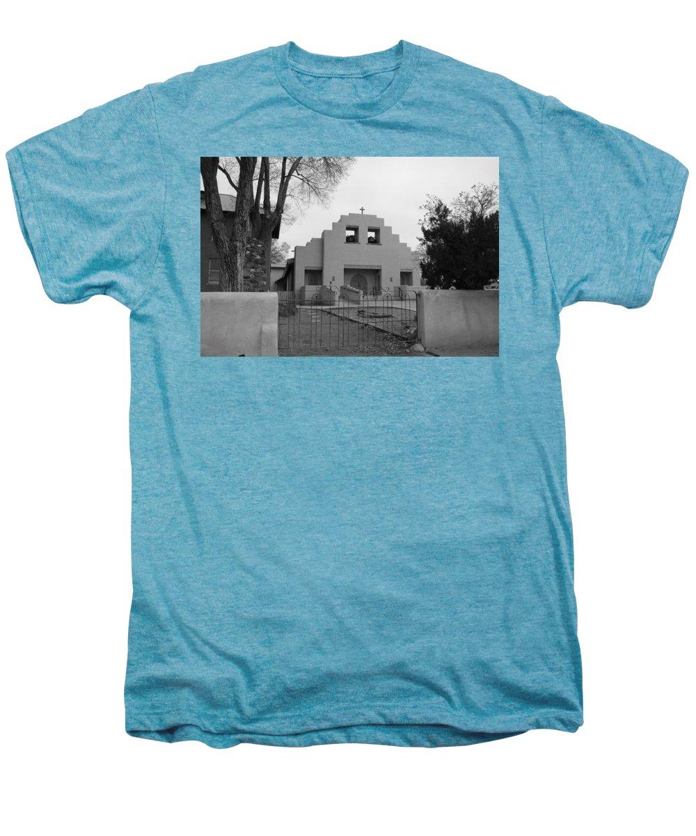Architecture Men's Premium T-Shirt featuring the photograph Cochiti Church by Rob Hans