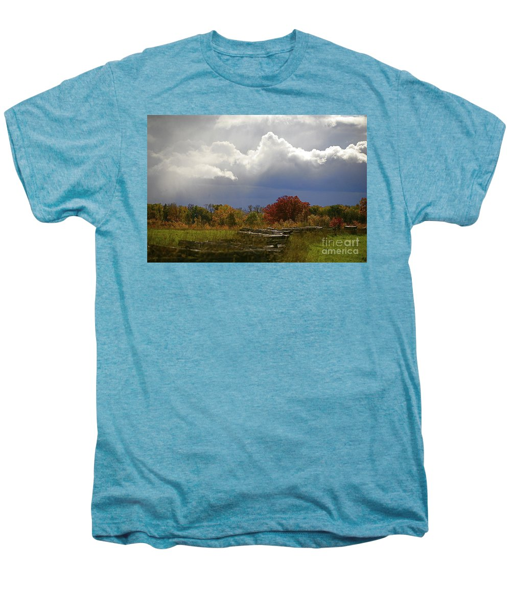 Landscape Men's Premium T-Shirt featuring the photograph Cold Front by Robert Pearson