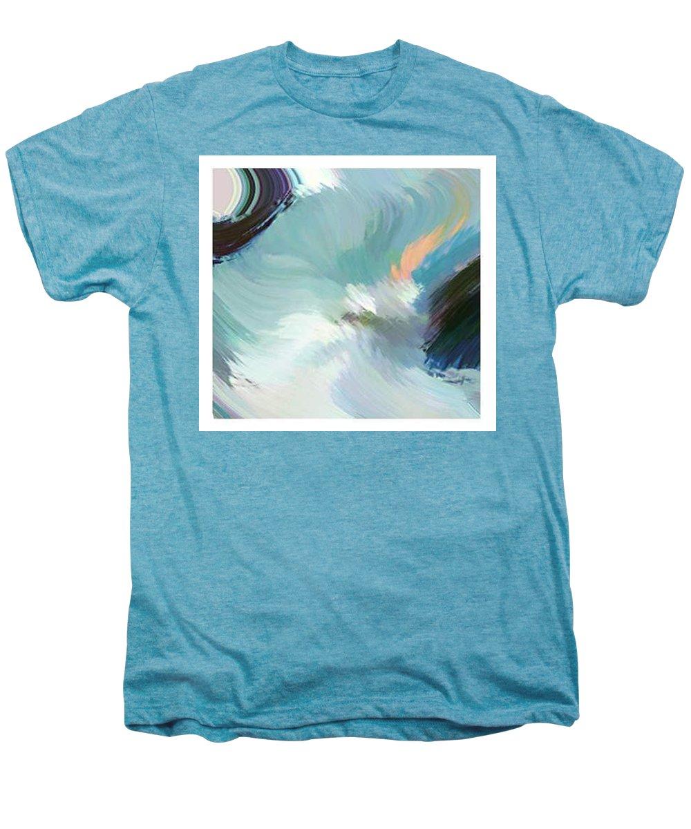 Landscape Digital Art Men's Premium T-Shirt featuring the digital art Color Falls by Anil Nene