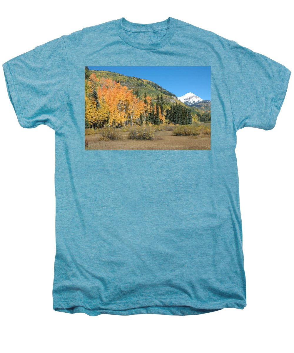 Aspen Men's Premium T-Shirt featuring the photograph Colorado Gold by Jerry McElroy