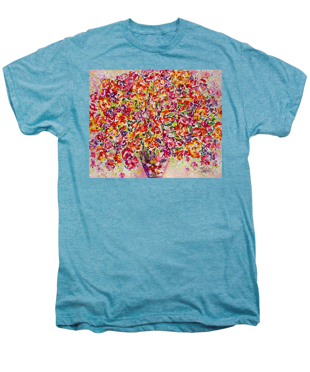 Framed Prints Men's Premium T-Shirt featuring the painting Colorful Organza by Natalie Holland
