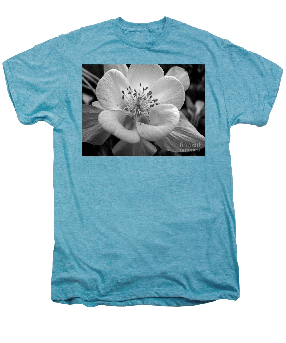 Flowers Men's Premium T-Shirt featuring the photograph Columbine by Amanda Barcon