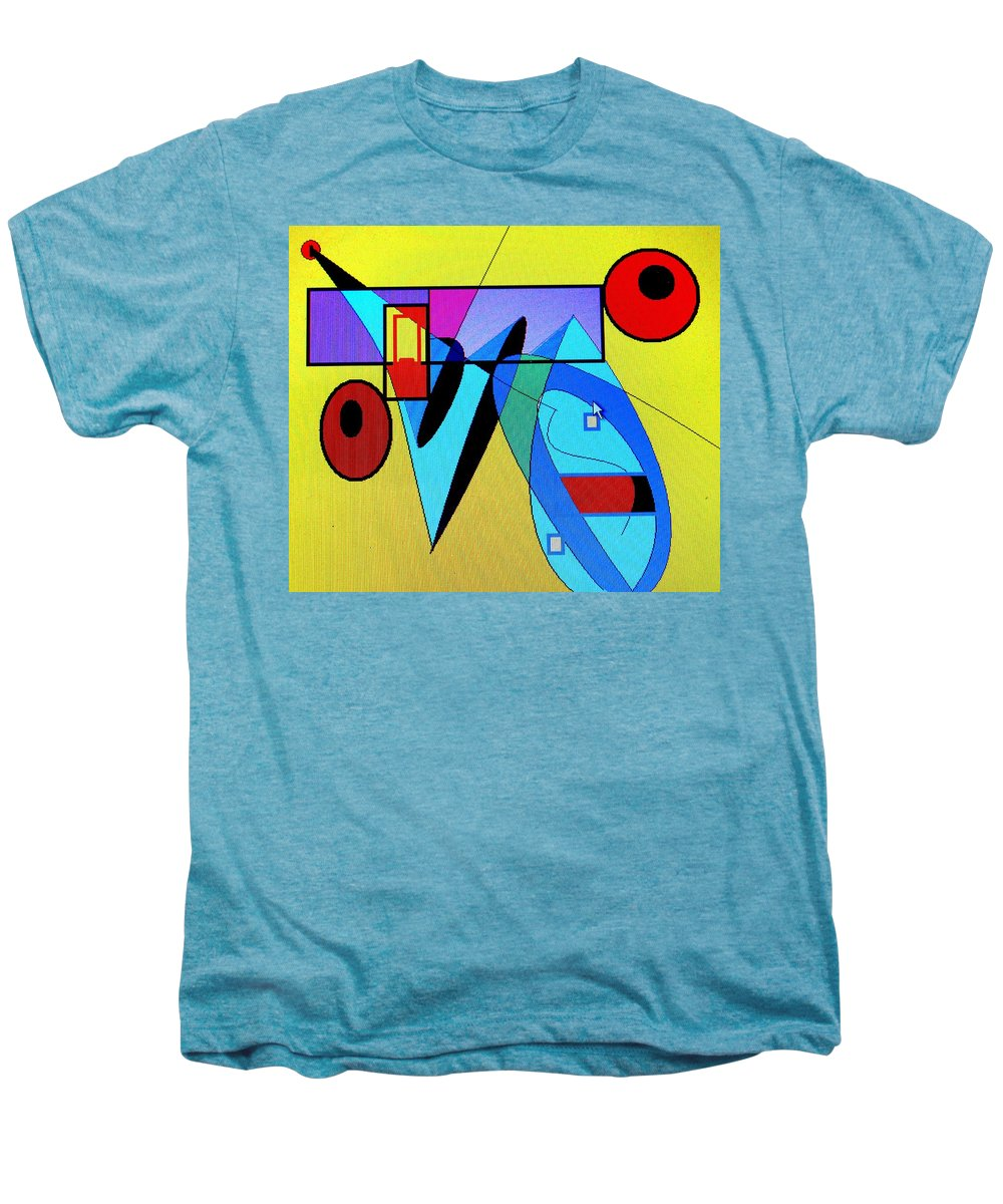 Horn Men's Premium T-Shirt featuring the digital art Come Blow Your Horn by Ian MacDonald