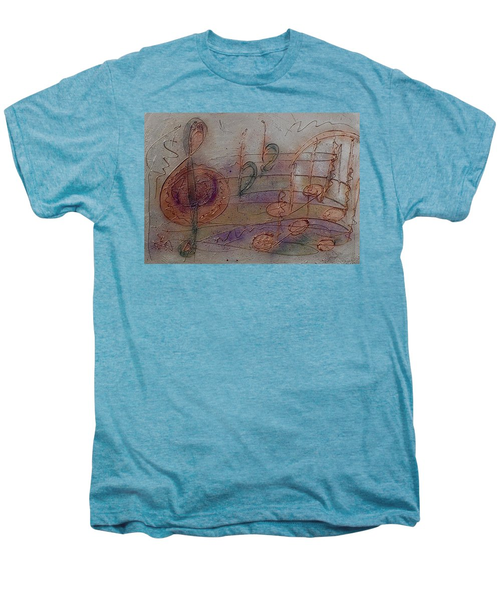 Impressionist Men's Premium T-Shirt featuring the painting Composition In B Flat by Anita Burgermeister