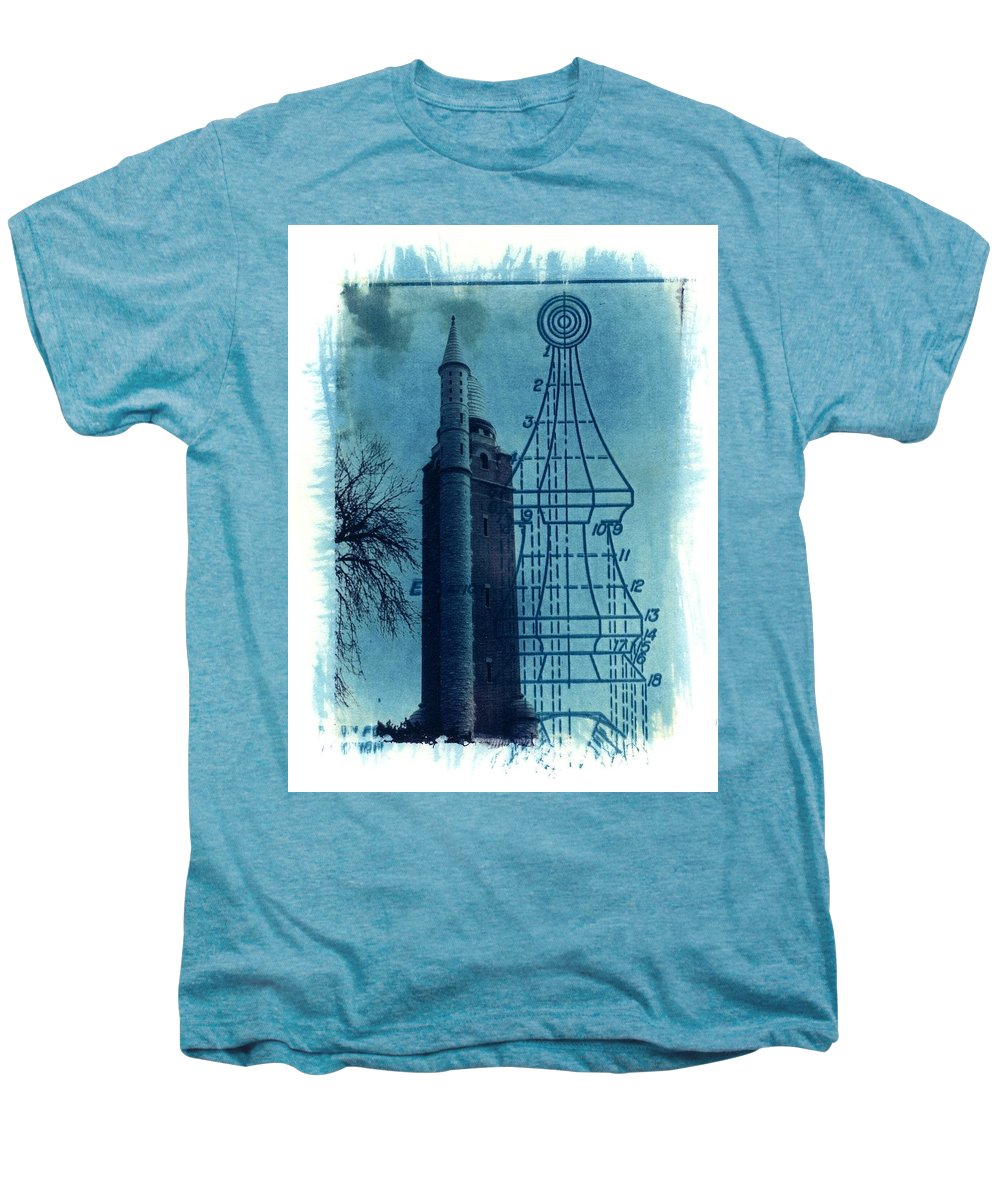 Alternative Process Photography Men's Premium T-Shirt featuring the photograph Compton Blueprint by Jane Linders
