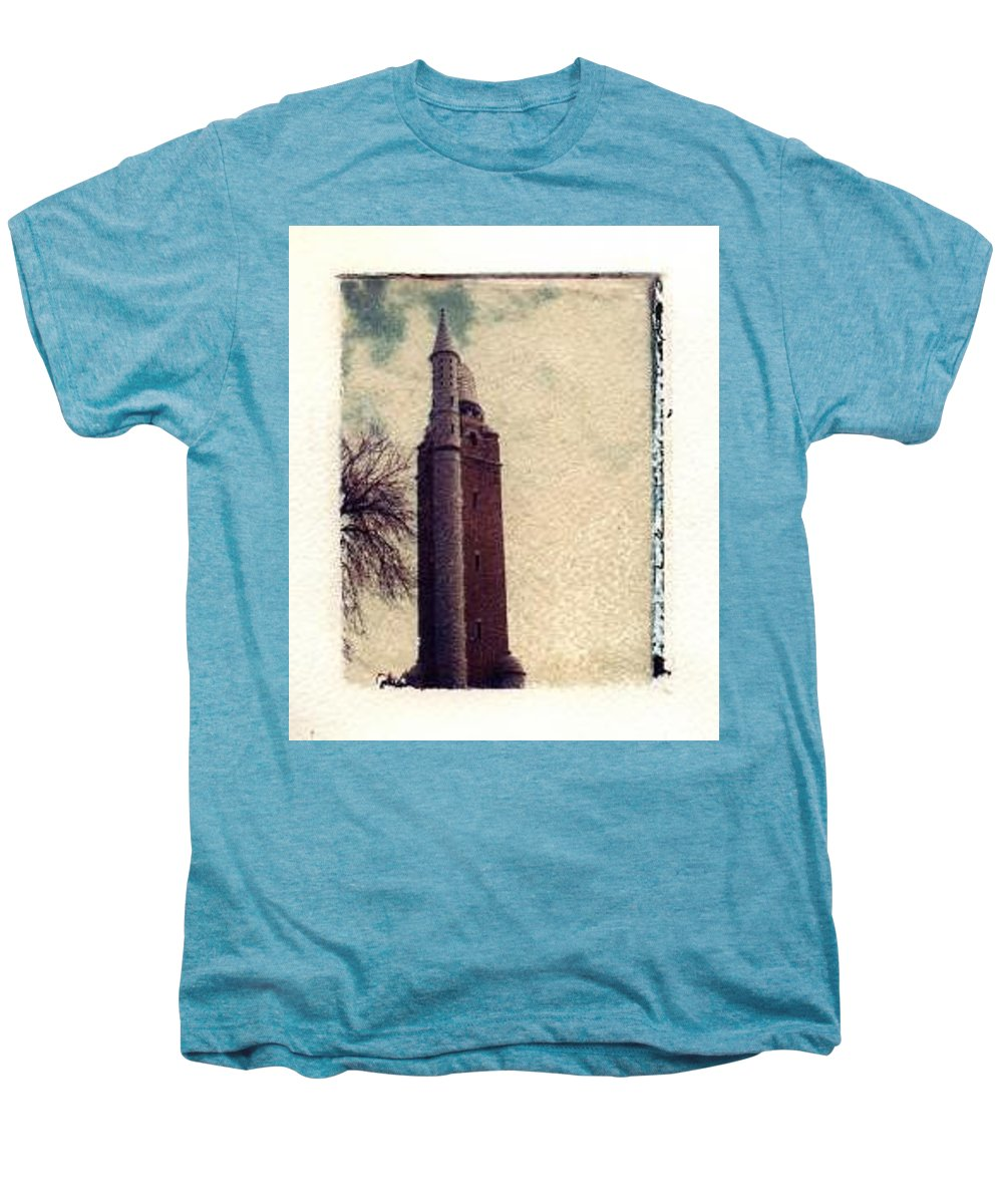 Polaroid Transfer Men's Premium T-Shirt featuring the photograph Compton Water Tower by Jane Linders