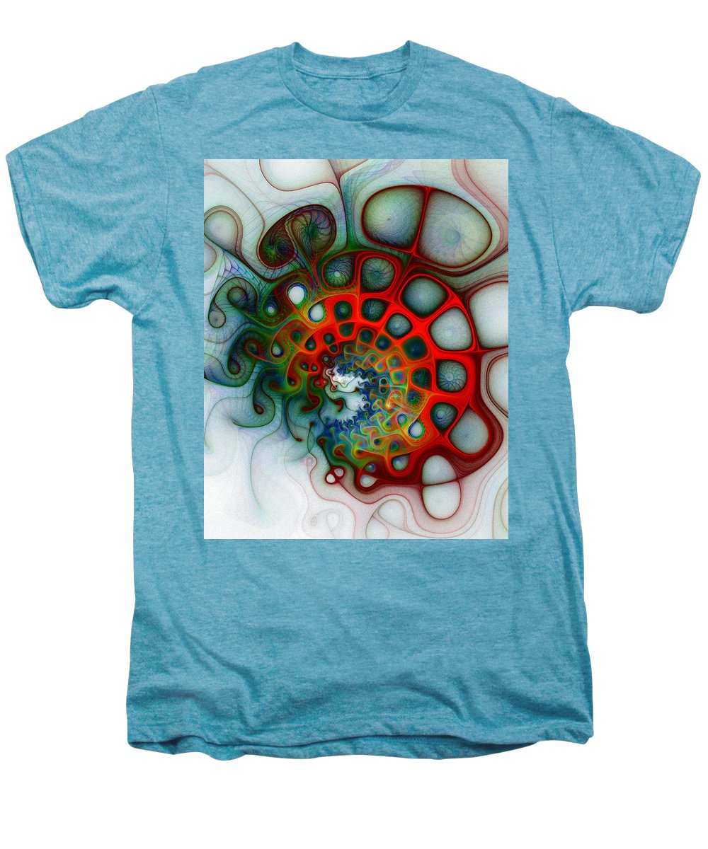 Digital Art Men's Premium T-Shirt featuring the digital art Convolutions by Amanda Moore