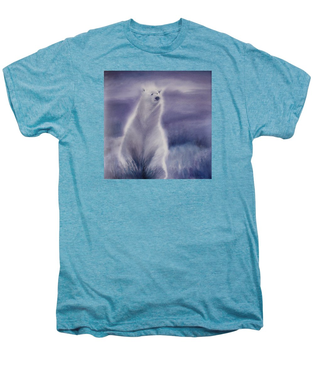Bear Men's Premium T-Shirt featuring the painting Cool Bear by Allison Ashton
