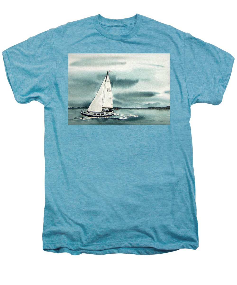 Sailing Men's Premium T-Shirt featuring the painting Cool Sail by Gale Cochran-Smith