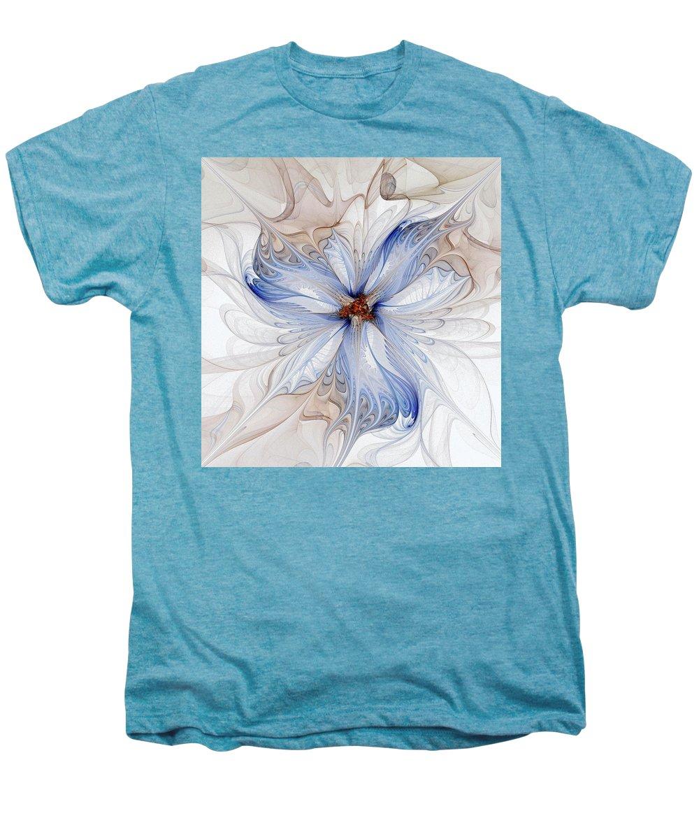 Digital Art Men's Premium T-Shirt featuring the digital art Cornflower Blues by Amanda Moore
