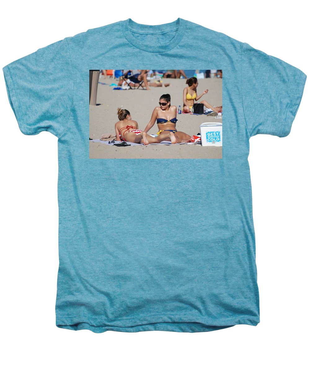 Girls Men's Premium T-Shirt featuring the photograph Corona Strips by Rob Hans