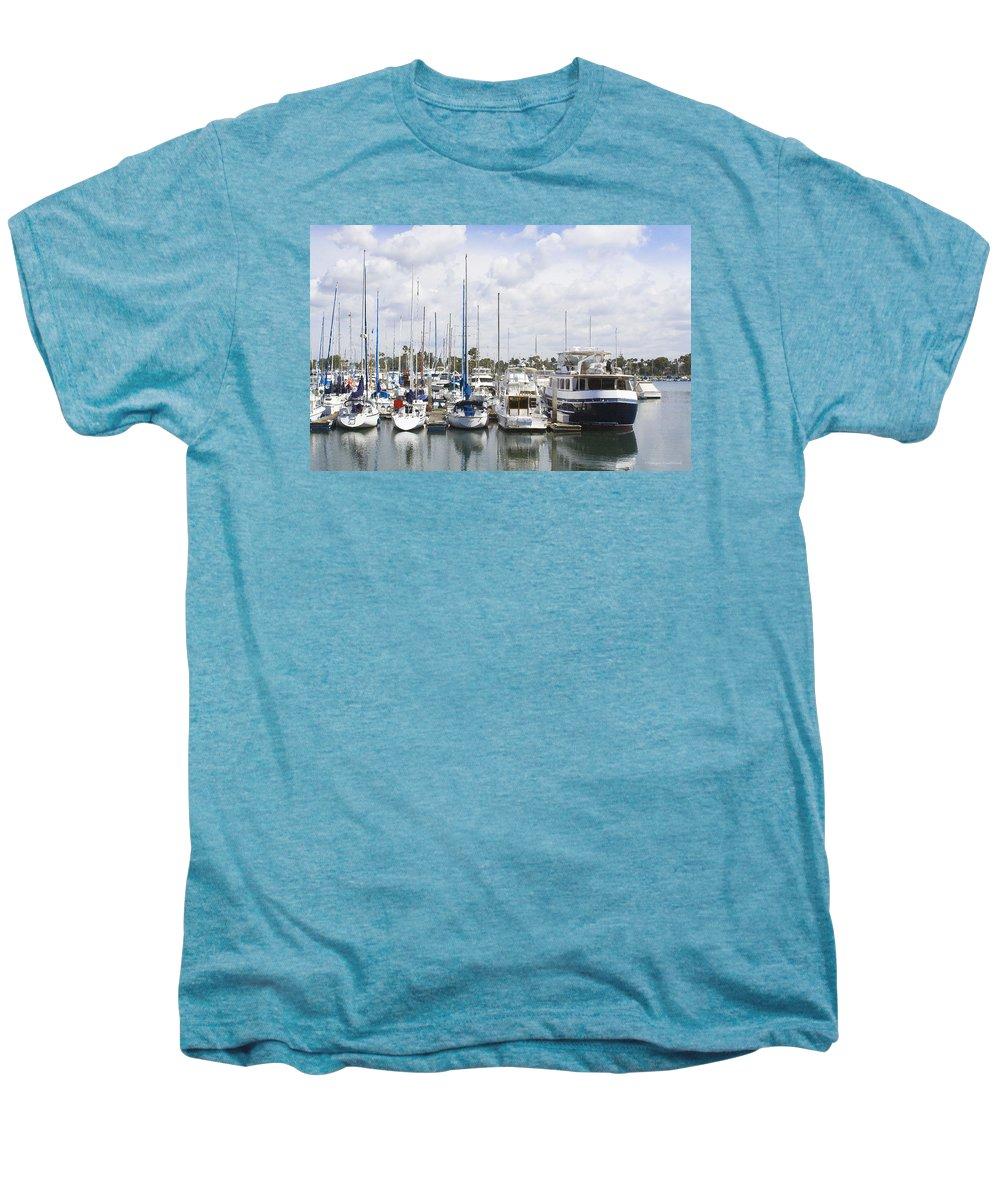 Coronado Men's Premium T-Shirt featuring the photograph Coronado Boats II by Margie Wildblood