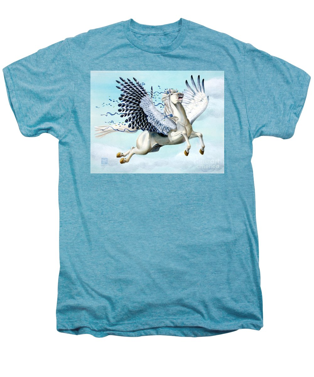 Artwork Men's Premium T-Shirt featuring the painting Cory Pegasus by Melissa A Benson