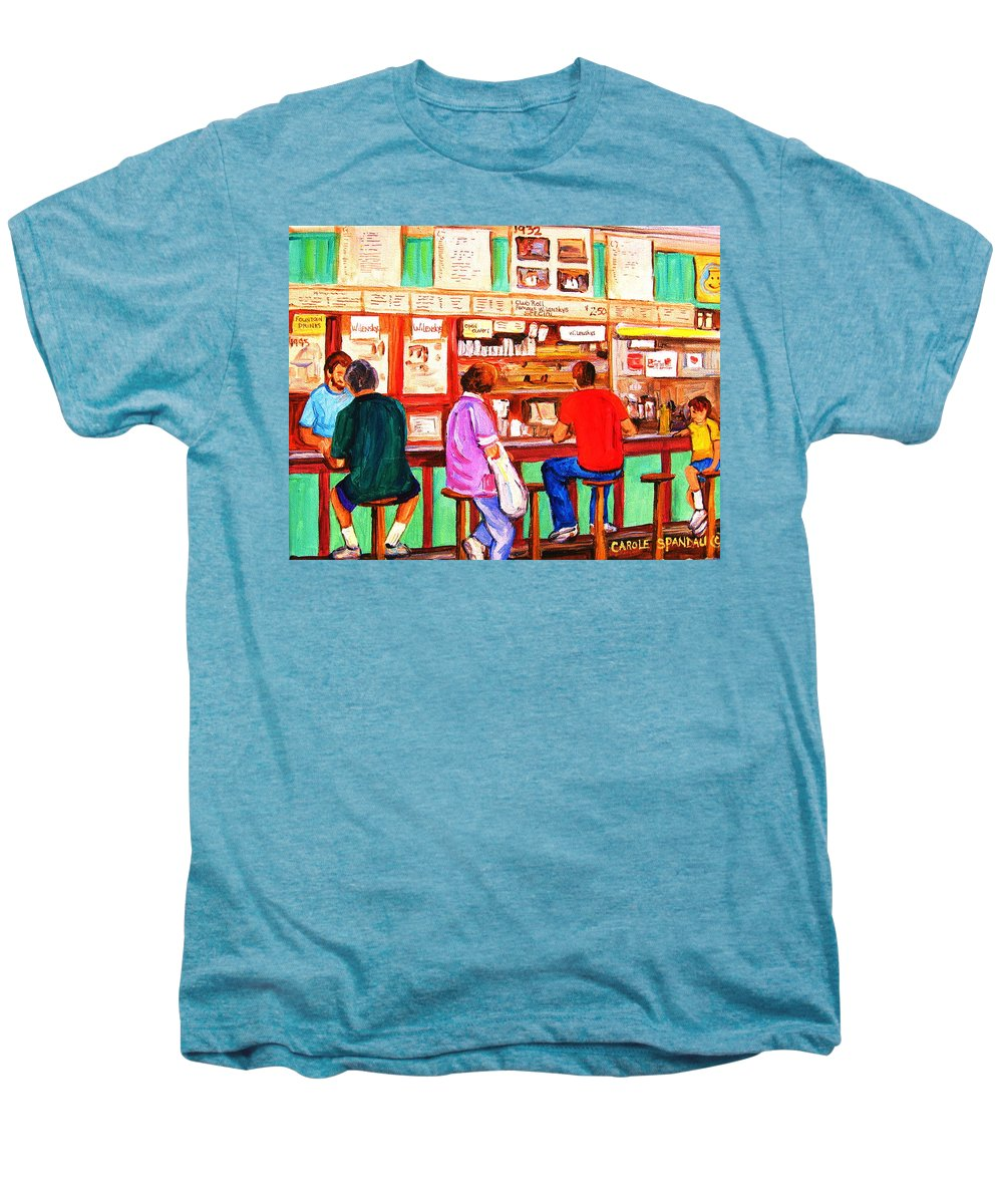 Montreal Men's Premium T-Shirt featuring the painting Counter Culture by Carole Spandau