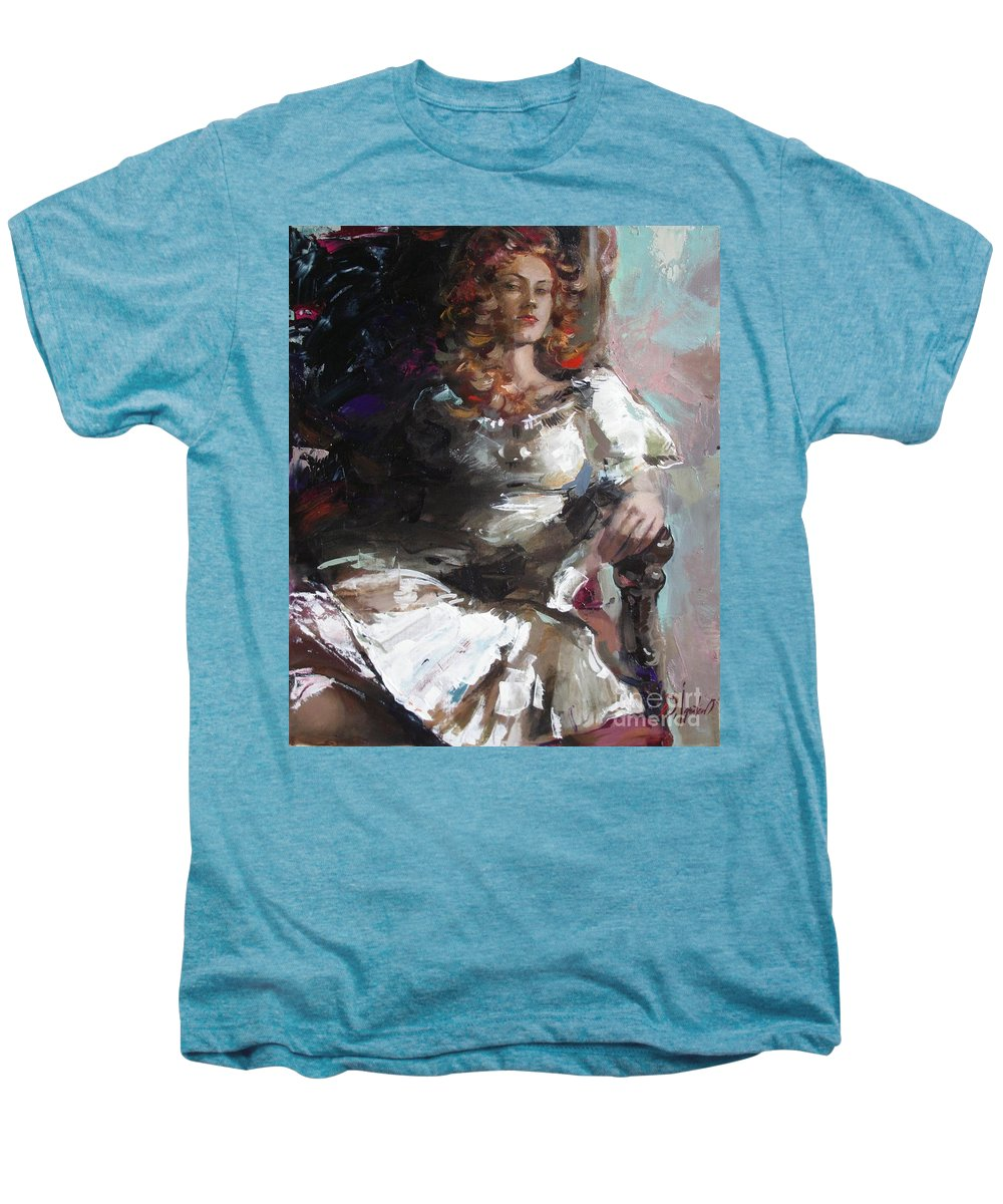 Ignatenko Men's Premium T-Shirt featuring the painting Countess by Sergey Ignatenko
