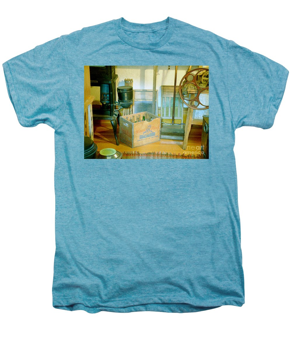 Kitchen Men's Premium T-Shirt featuring the painting Country Kitchen Sunshine II by RC deWinter