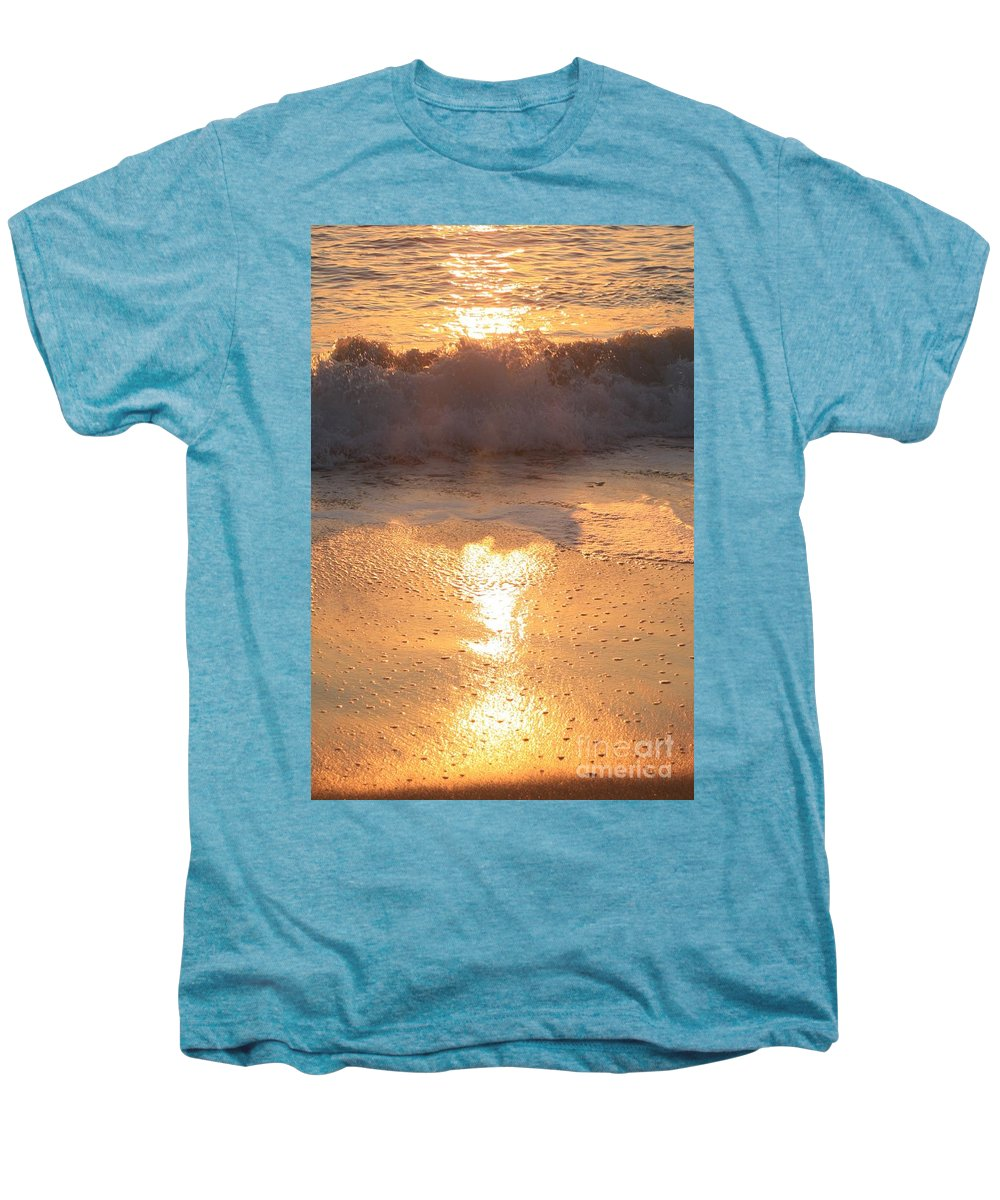 Waves Men's Premium T-Shirt featuring the photograph Crashing Wave At Sunrise by Nadine Rippelmeyer
