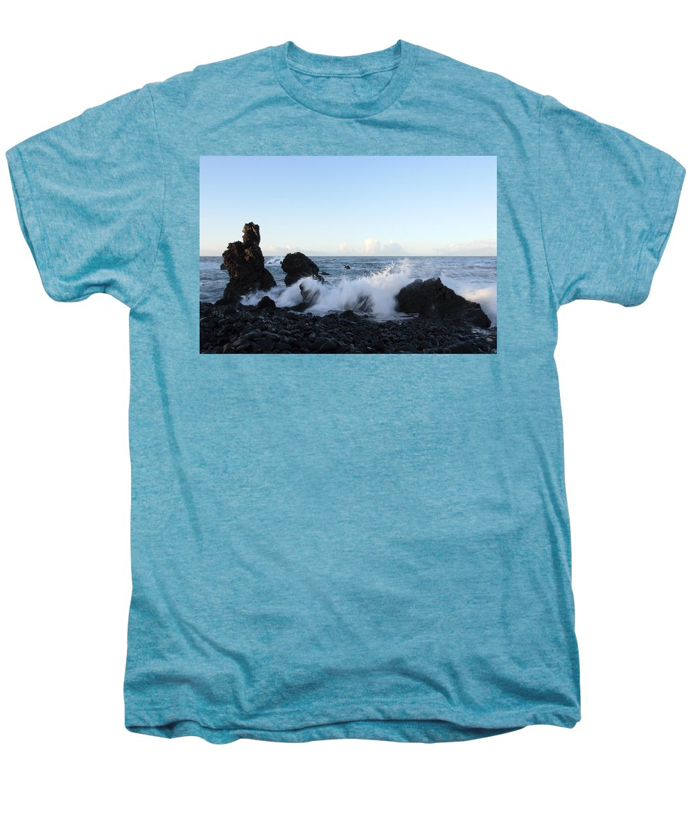 Waves Men's Premium T-Shirt featuring the photograph Crashing Wave by Phil Crean