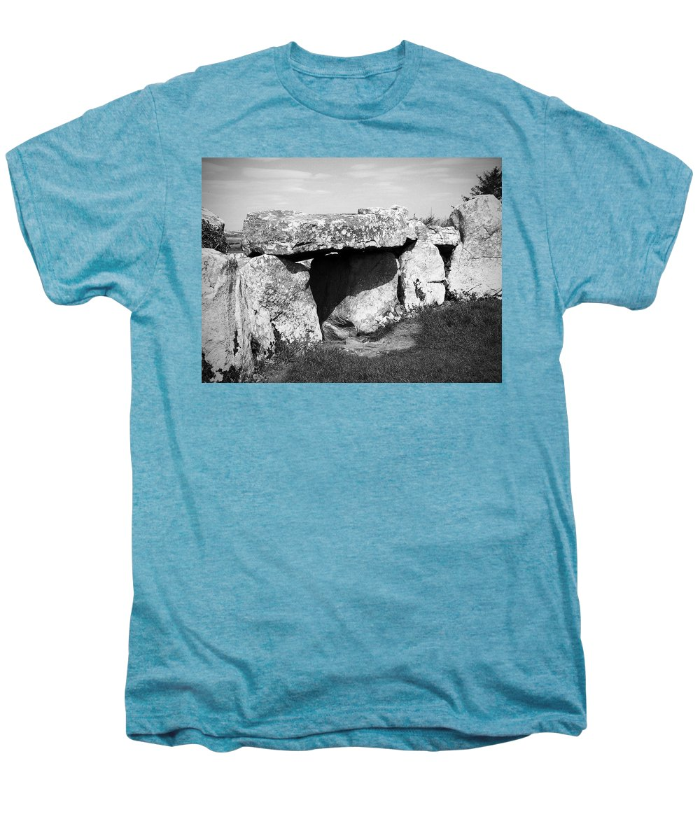 Ireland Men's Premium T-Shirt featuring the photograph Creevykeel Court Cairn County Sligo Ireland by Teresa Mucha
