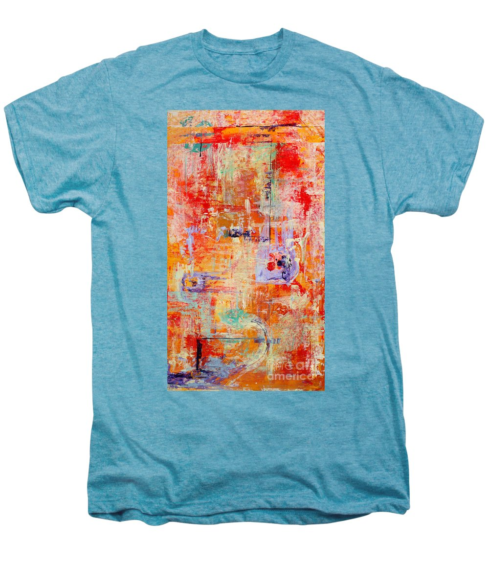 Large Format Painting Men's Premium T-Shirt featuring the painting Crescendo by Pat Saunders-White