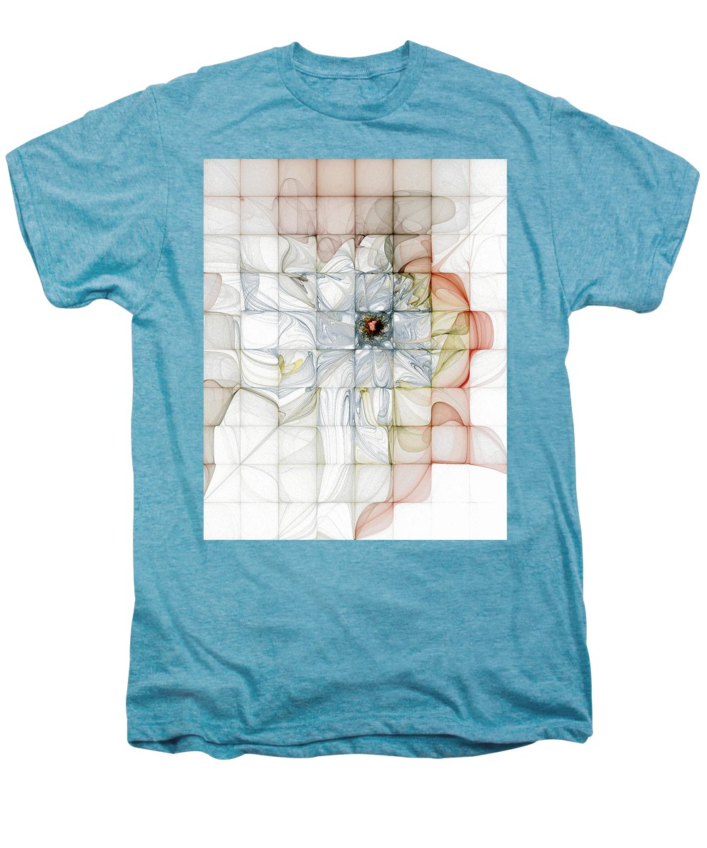Digital Art Men's Premium T-Shirt featuring the digital art Cubed Pastels by Amanda Moore