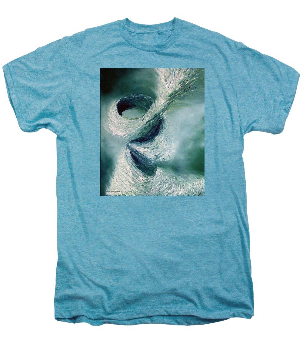 Tornado Men's Premium T-Shirt featuring the painting Cyclone by Elizabeth Lisy Figueroa