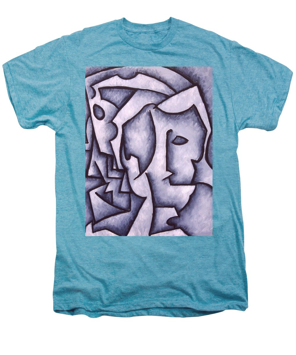 Abstract Men's Premium T-Shirt featuring the painting David by Thomas Valentine