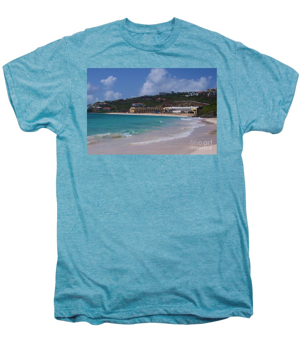 Dawn Beach Men's Premium T-Shirt featuring the photograph Dawn Beach by Debbi Granruth