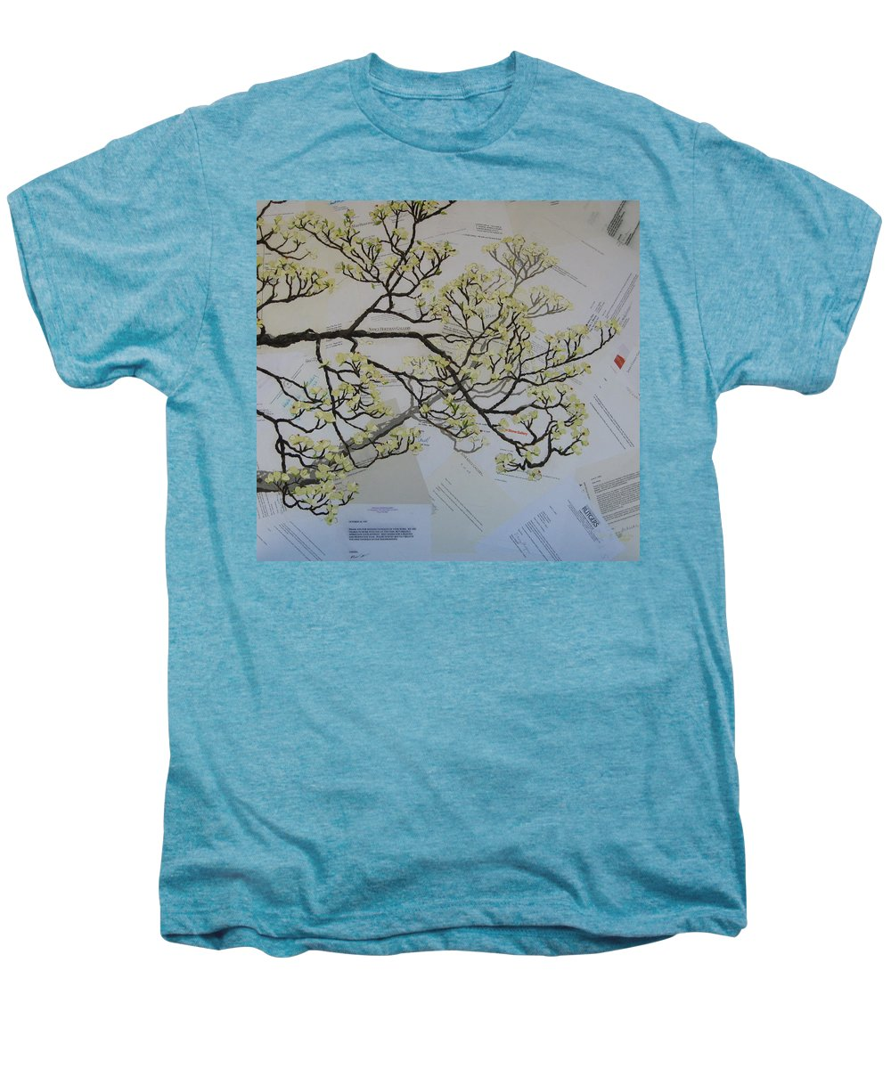 Collage Men's Premium T-Shirt featuring the painting Dear Artist by Leah Tomaino