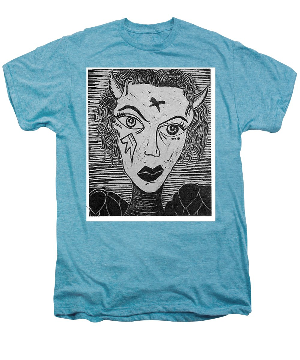 Prints Men's Premium T-Shirt featuring the print Devil Print Two Out Of Five by Thomas Valentine