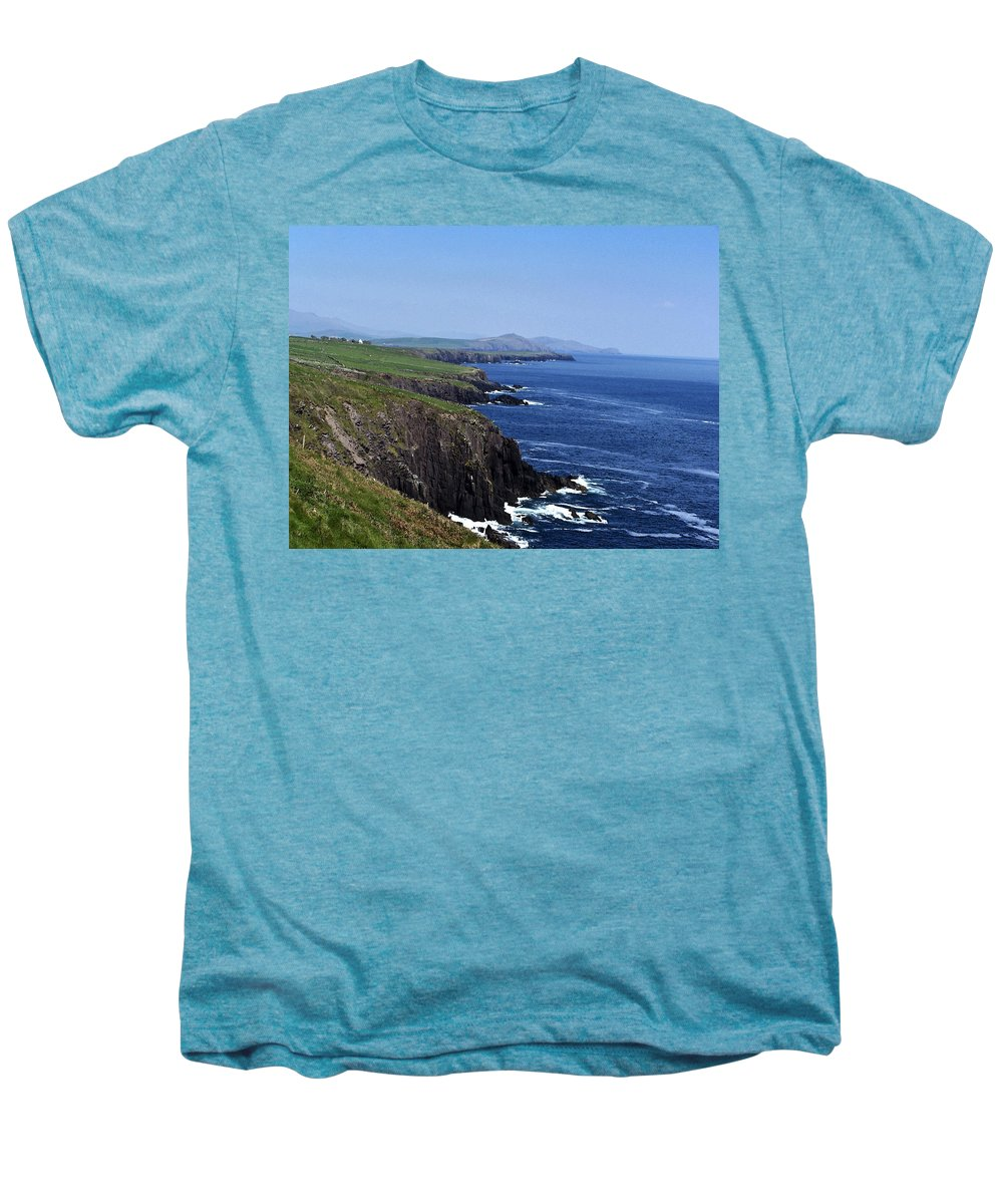 Irish Men's Premium T-Shirt featuring the photograph Dingle Coast Near Fahan Ireland by Teresa Mucha