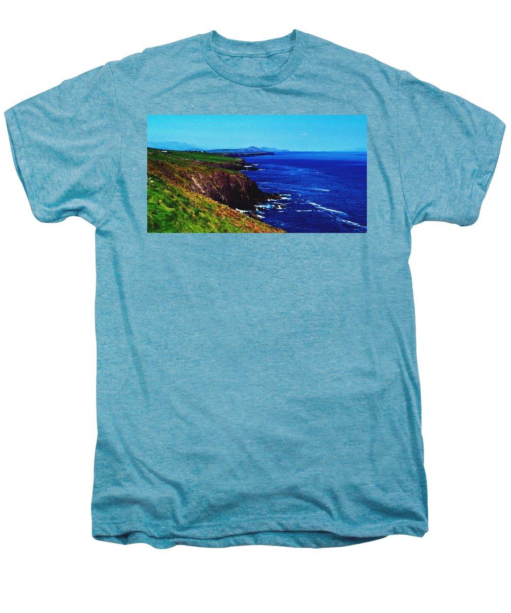 Irish Men's Premium T-Shirt featuring the digital art Dingle Coastline Near Fahan Ireland by Teresa Mucha