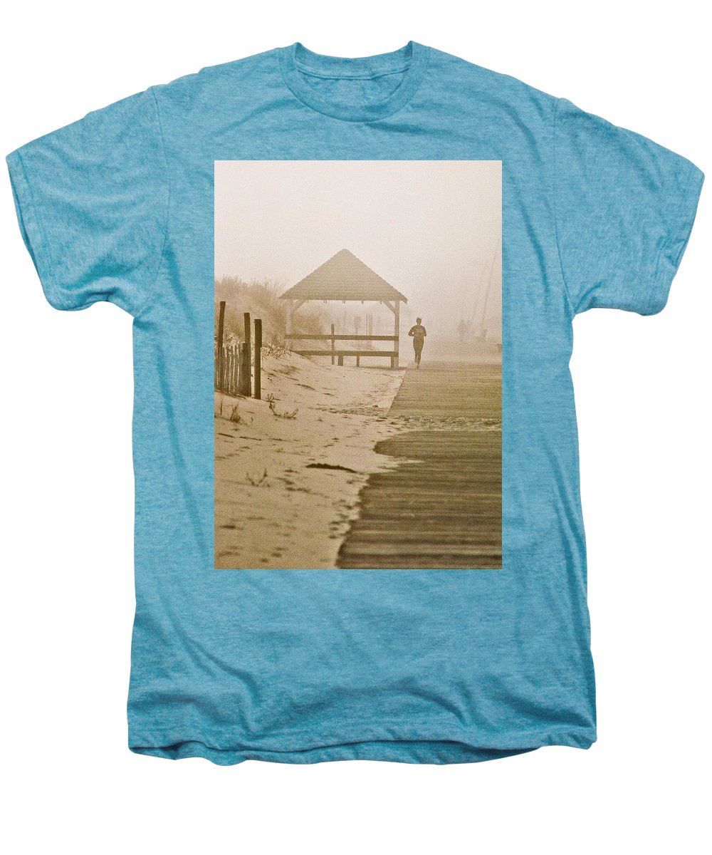 Landscape Men's Premium T-Shirt featuring the photograph Disappearance by Steve Karol