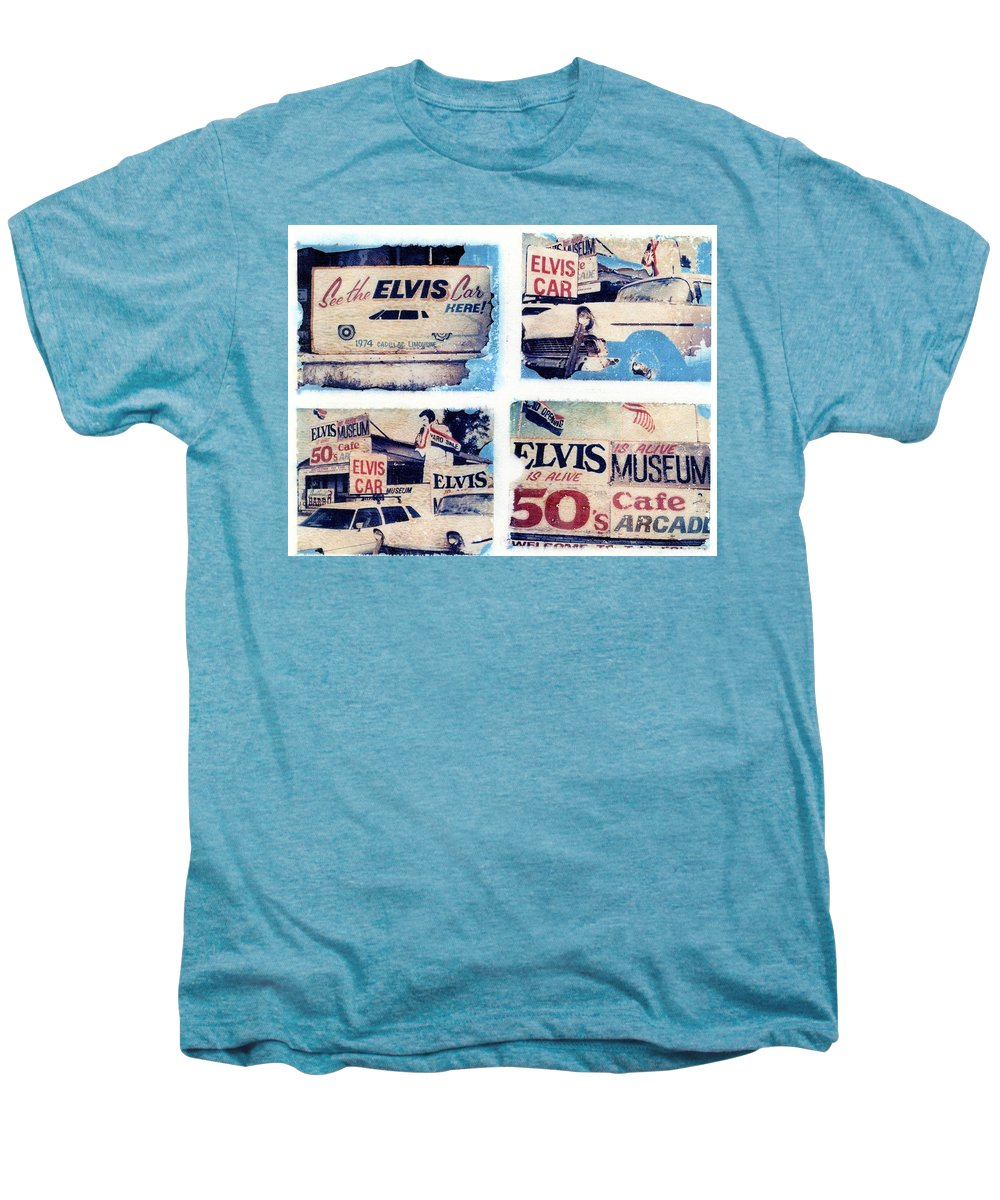 Elvis Men's Premium T-Shirt featuring the photograph Disgraceland by Jane Linders