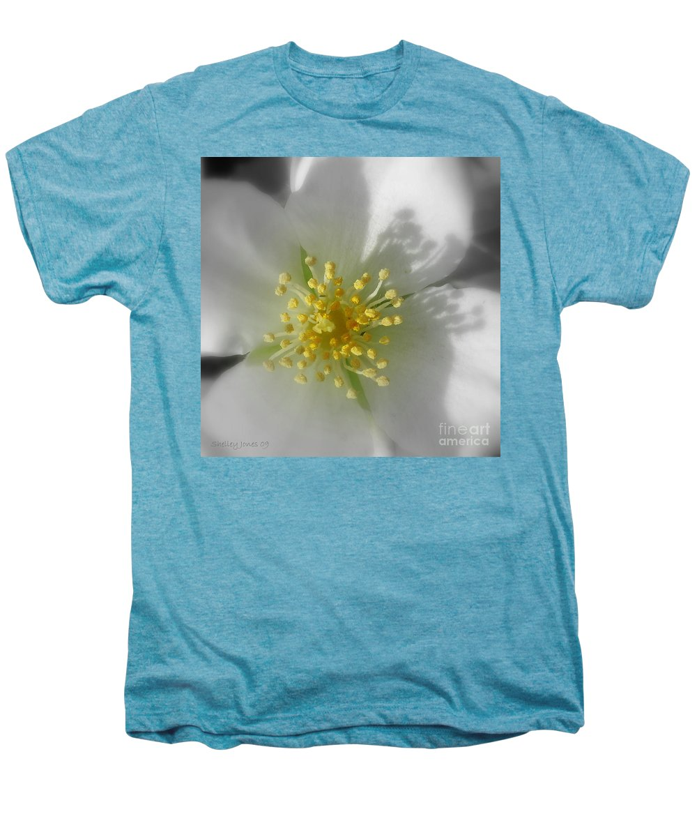 Photography Men's Premium T-Shirt featuring the photograph Dogwood by Shelley Jones