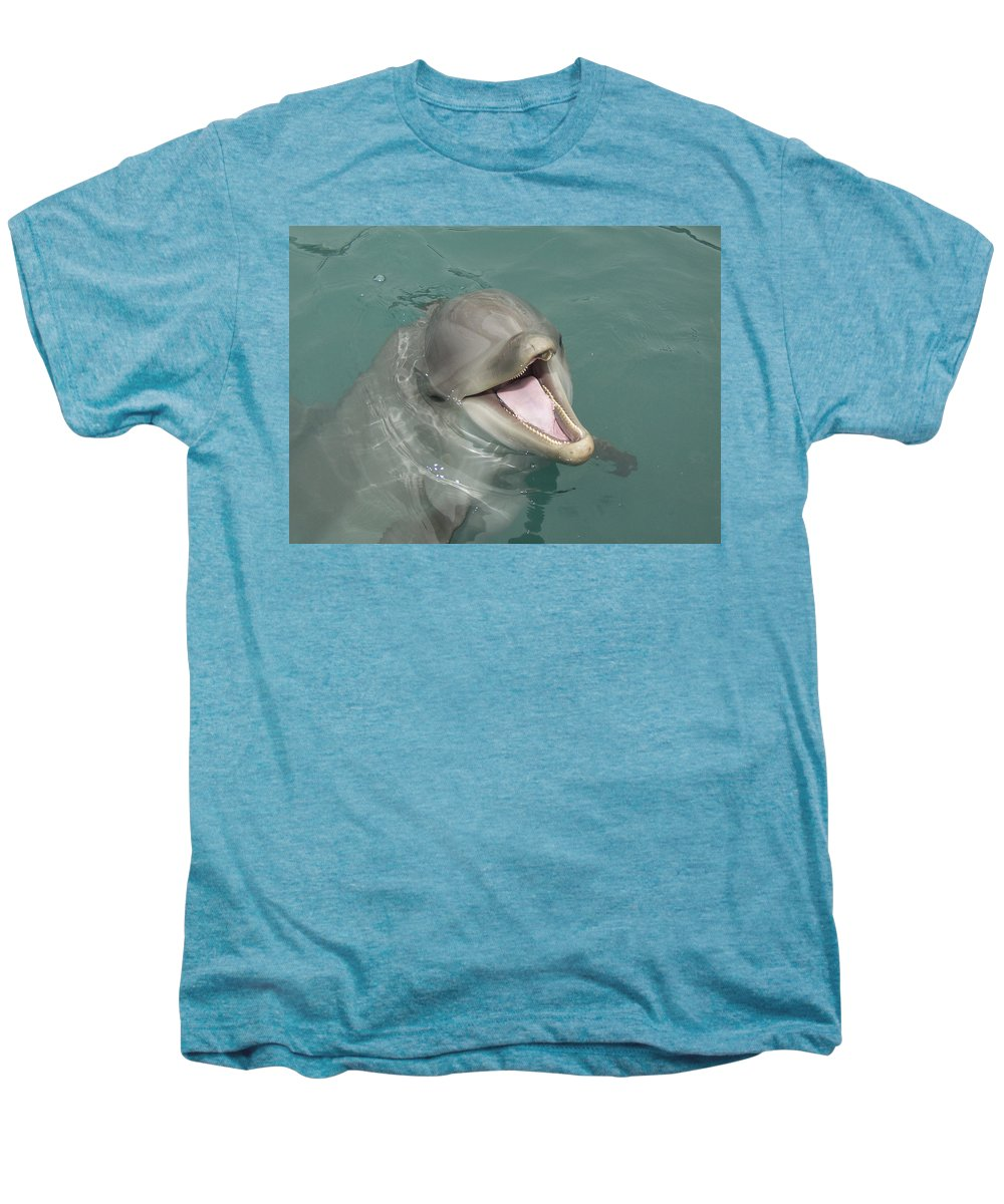 Dolphin Men's Premium T-Shirt featuring the painting Dolphin by Sean M