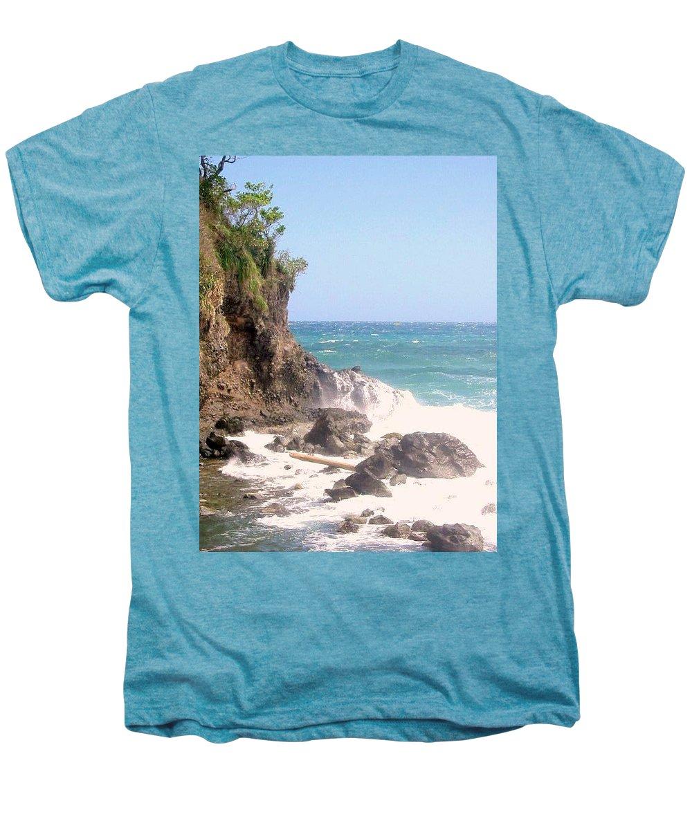 Dominica Men's Premium T-Shirt featuring the photograph Dominica North Atlantic Coast by Ian MacDonald