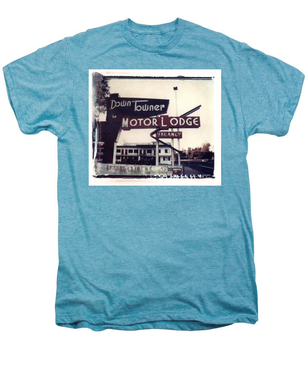 Landscape Men's Premium T-Shirt featuring the photograph Down Towner by Jane Linders