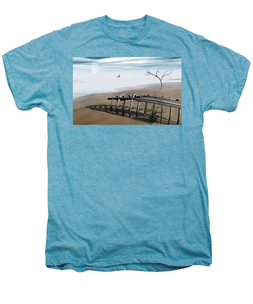 Surreal Men's Premium T-Shirt featuring the digital art Dream Lake by Richard Rizzo
