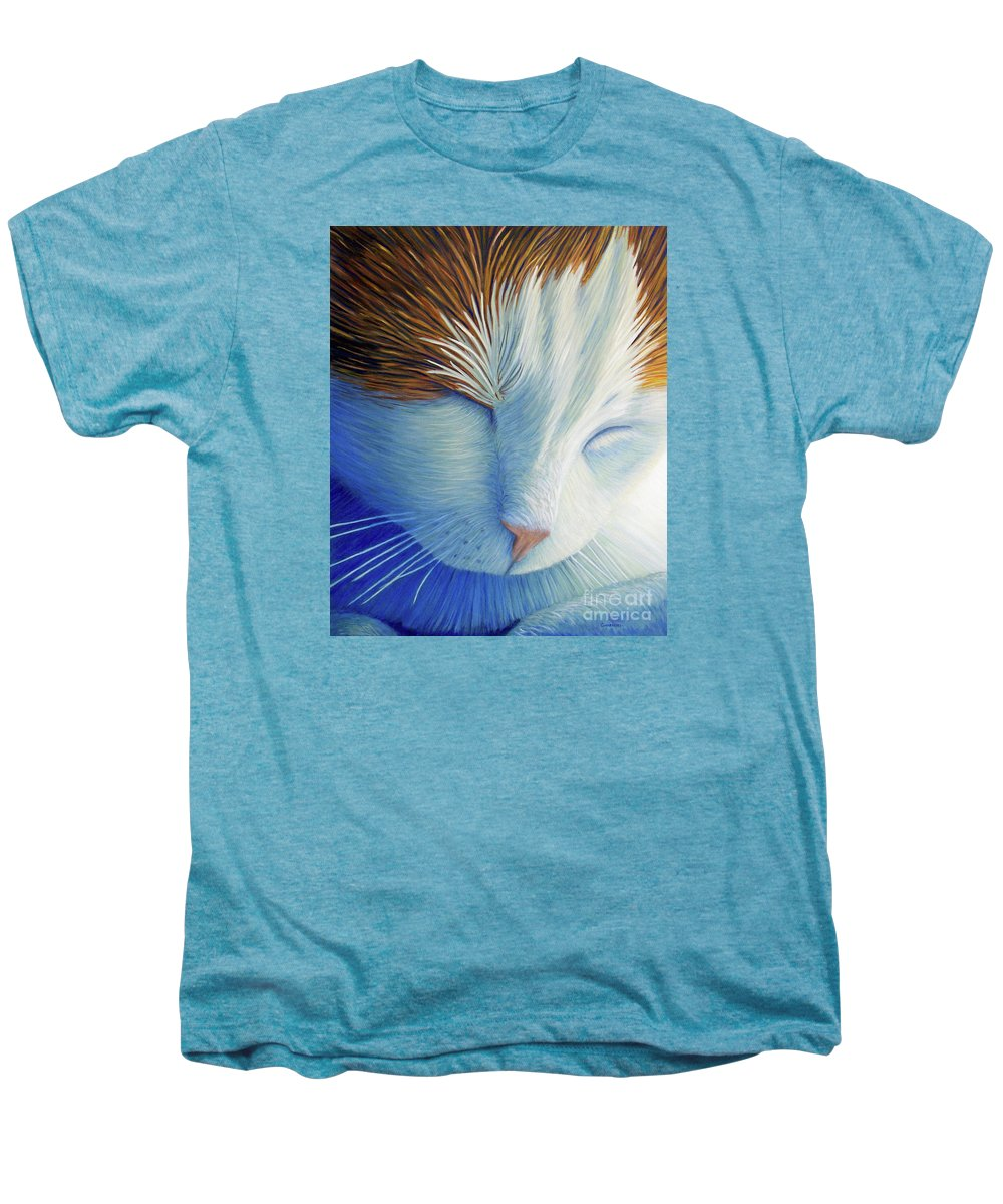 Cat Men's Premium T-Shirt featuring the painting Dream Within A Dream by Brian Commerford