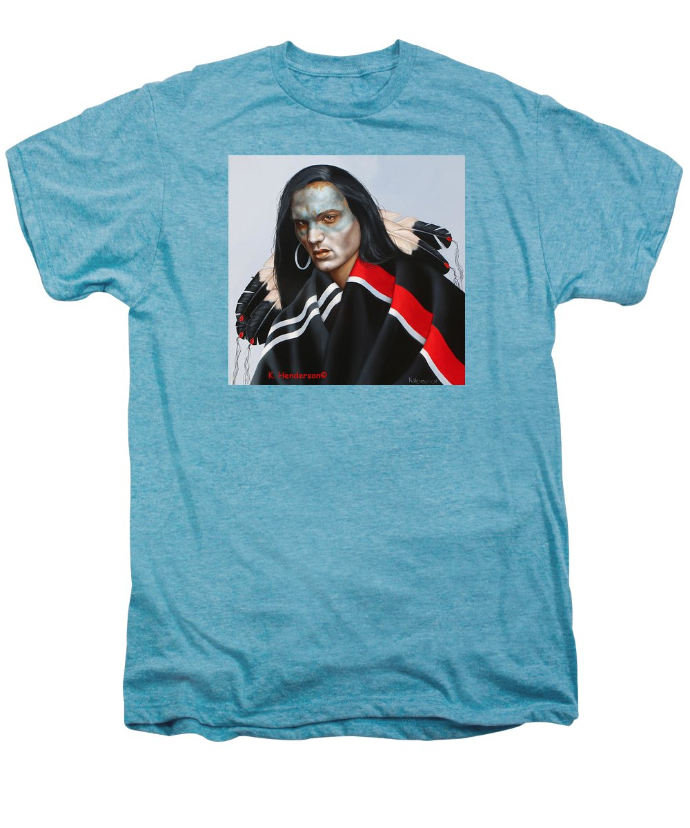 American Indian Men's Premium T-Shirt featuring the painting Dream Within A Dream by K Henderson