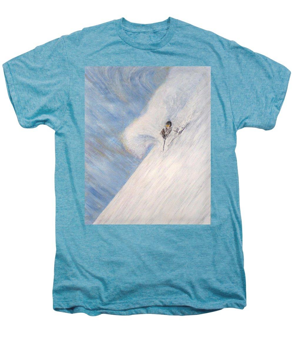 Landscape Men's Premium T-Shirt featuring the painting Dreamsareal by Michael Cuozzo
