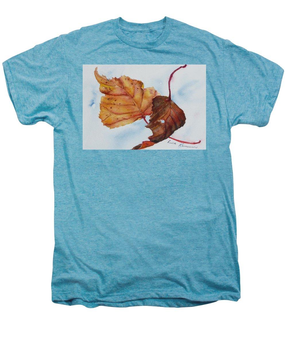Fall Men's Premium T-Shirt featuring the painting Drifting by Ruth Kamenev