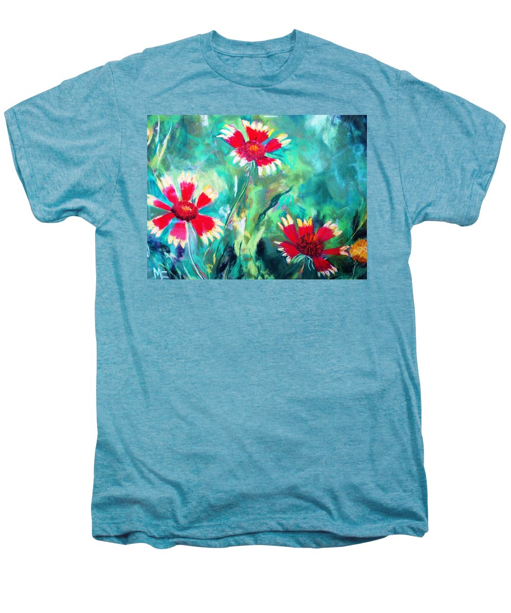 Flowers Men's Premium T-Shirt featuring the painting East Texas Wild Flowers by Melinda Etzold