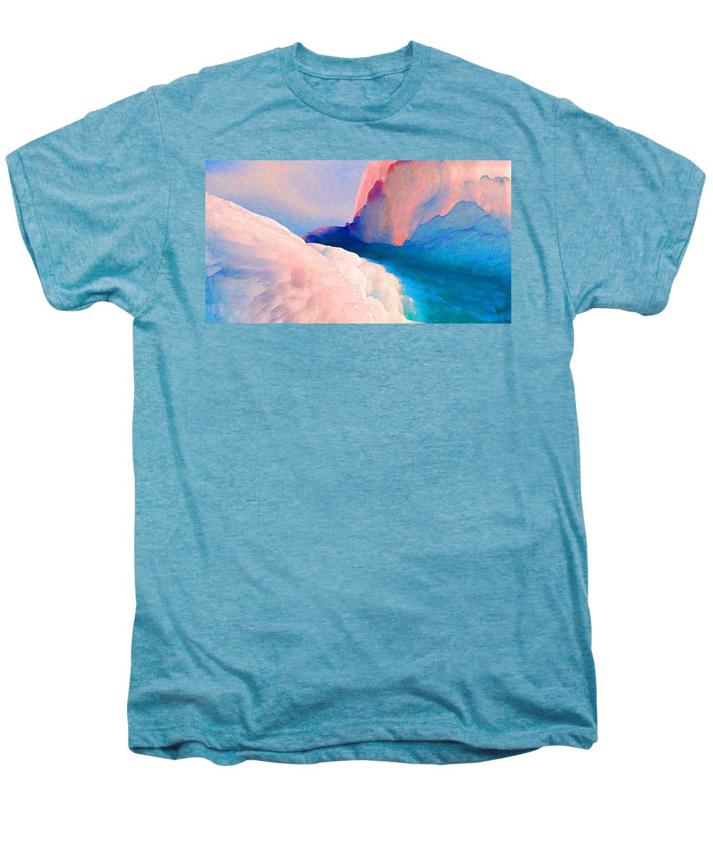 Abstract Men's Premium T-Shirt featuring the photograph Ebb And Flow by Steve Karol