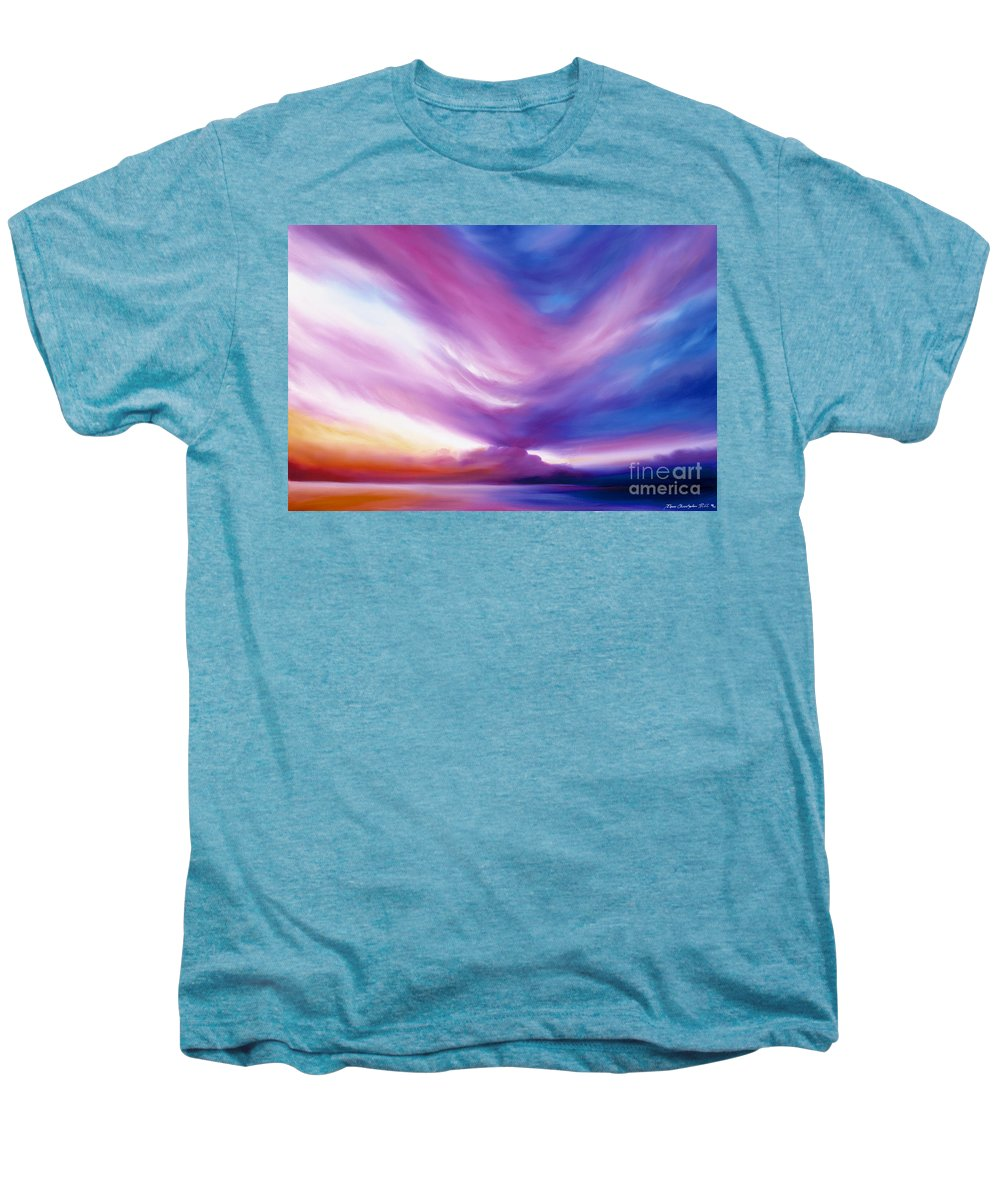 Clouds Men's Premium T-Shirt featuring the painting Ecstacy by James Christopher Hill