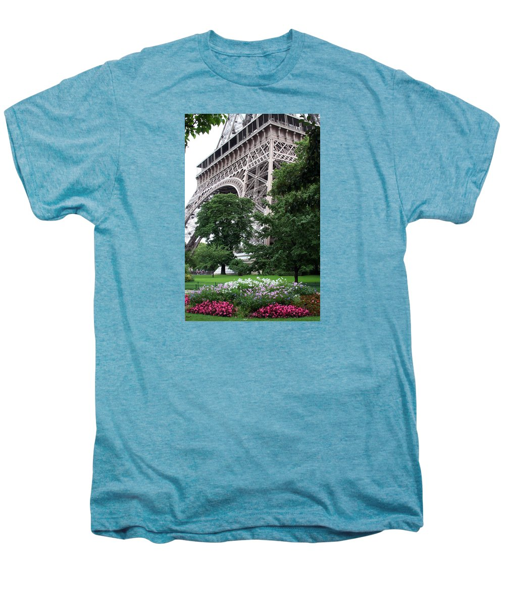 Eiffel Men's Premium T-Shirt featuring the photograph Eiffel Tower Garden by Margie Wildblood