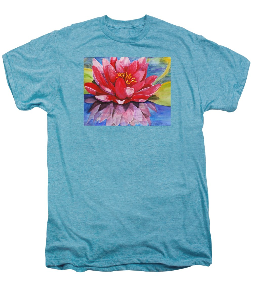 Lily Men's Premium T-Shirt featuring the painting Ela Lily by Jun Jamosmos